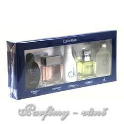 Calvin Klein Mix Giftset 5x 15ml Edt Obsession Night + 15ml Edt Eternity + 15ml Edt Euphoria + 15ml Edt One + 15ml Edt In2U