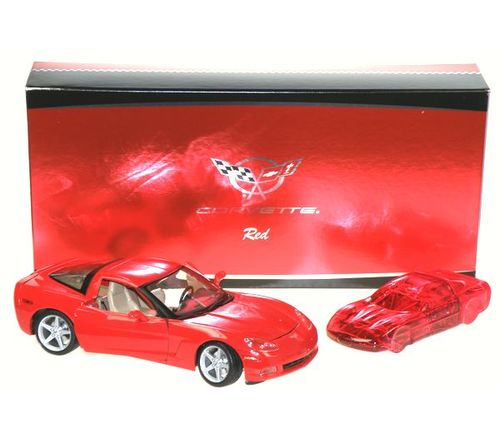 Corvette Red Edt 100ml + model auta Chevrolet Corvette C6 2005